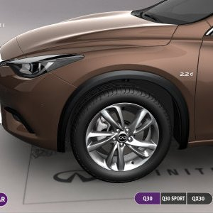Infiniti Q30 QX30 left wing